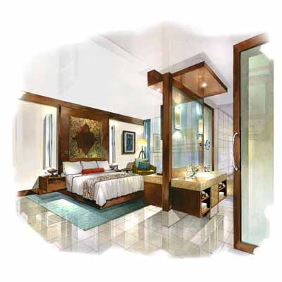 interior hand renderings. Black Bedroom Furniture Sets. Home Design Ideas